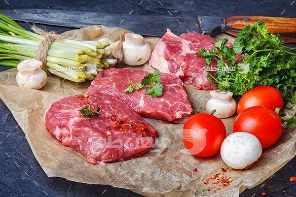 عکس آشپزی با گوشت