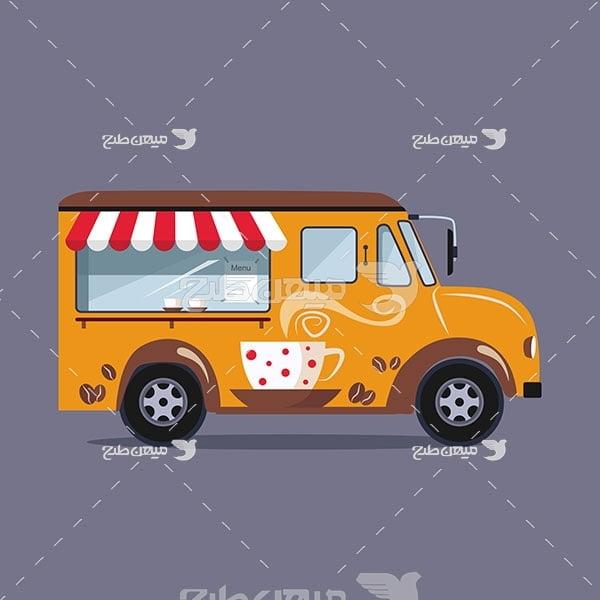 وکتور ماشین فروش غذا