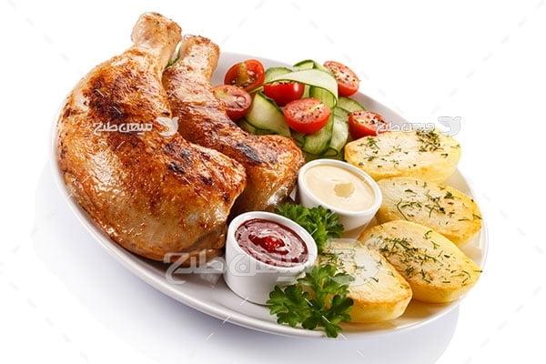 عکس تبلیغاتی غذا مرغ سرخ شده
