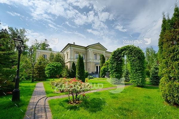 عکس منزل زیبا سرسبز