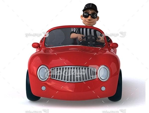 عکس رانندگی با اتومبیل