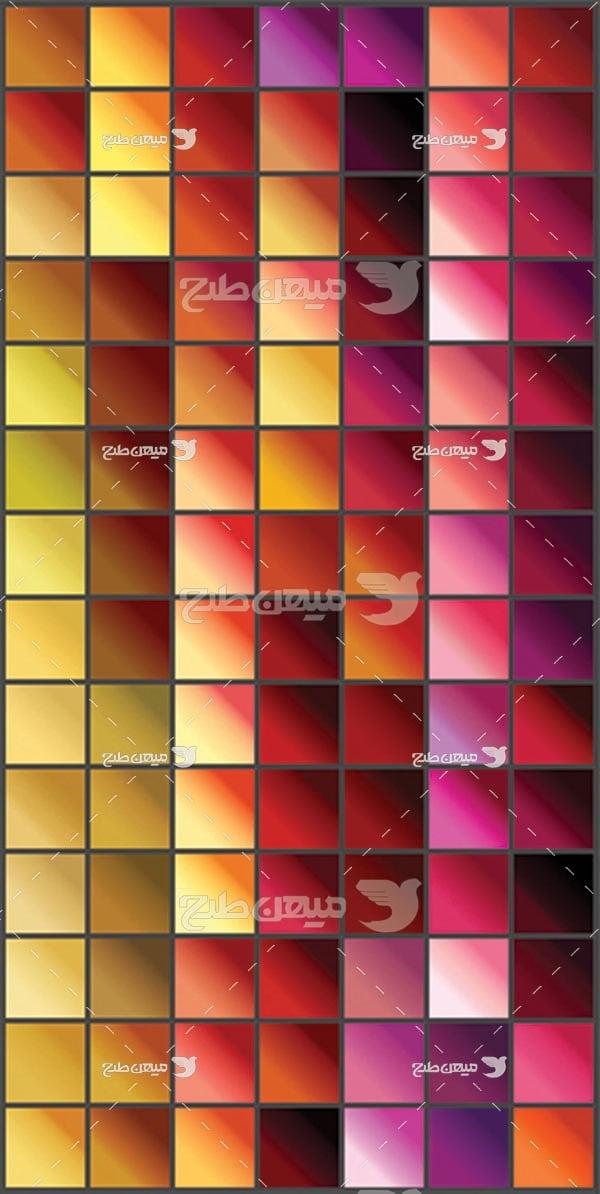 مجموعه ابزارهای فتوشاپ گرادینت طیف رنگ گرم