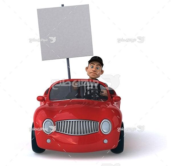 عکس رانندگی اتومبیل