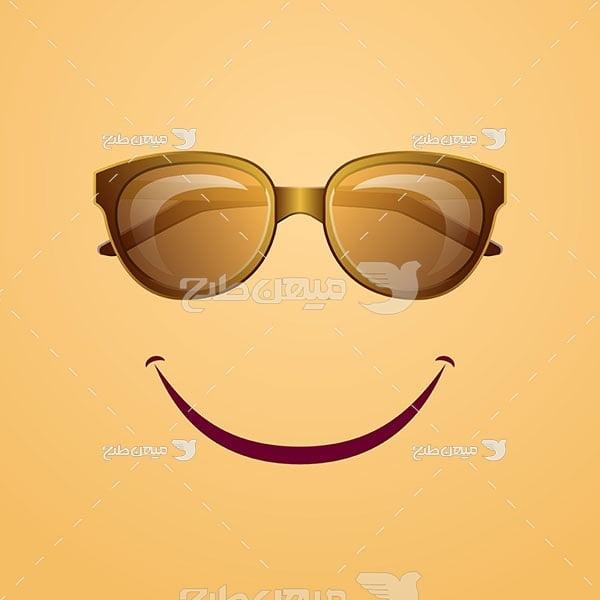وکتور عینک آفتابی طبی