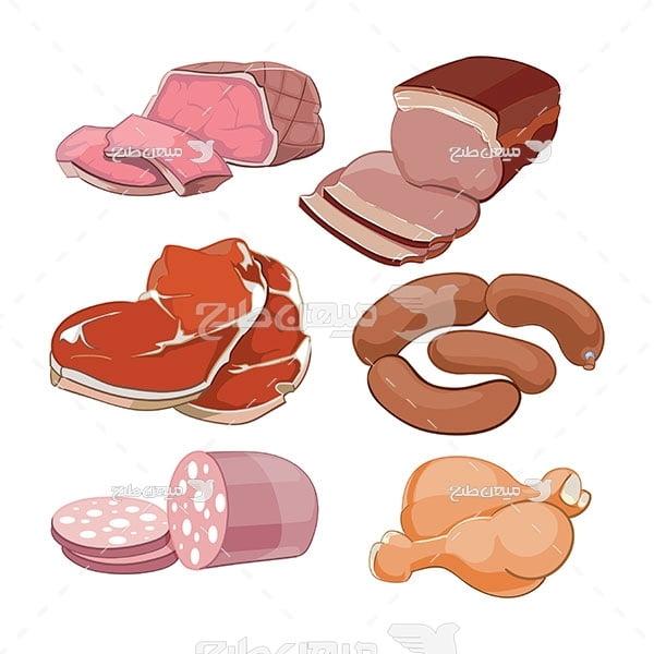 وکتور فراورده های گوشتی
