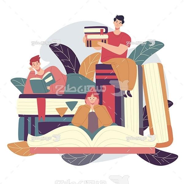 وکتور مطالعه کردن