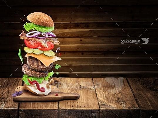 عکس تبلیغاتی غذا ساندویچ