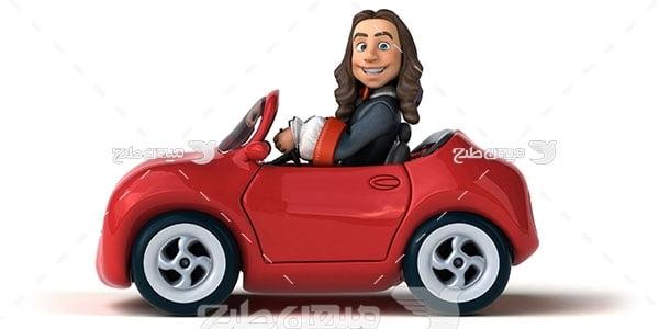 عکس آموزش رانندگی اتومبیل