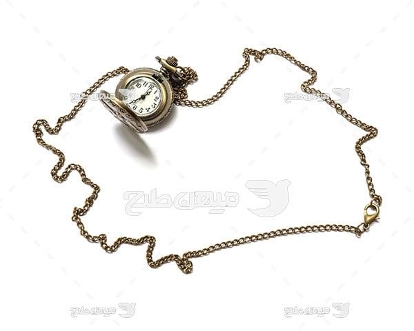عکس ساعت جیبی فلزی