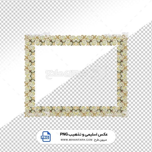 عکس برش خورده اسلیمی و تذهیب قاب با حاشیه پر نقش