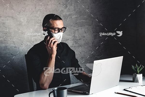 عکس استفاده از ماسک