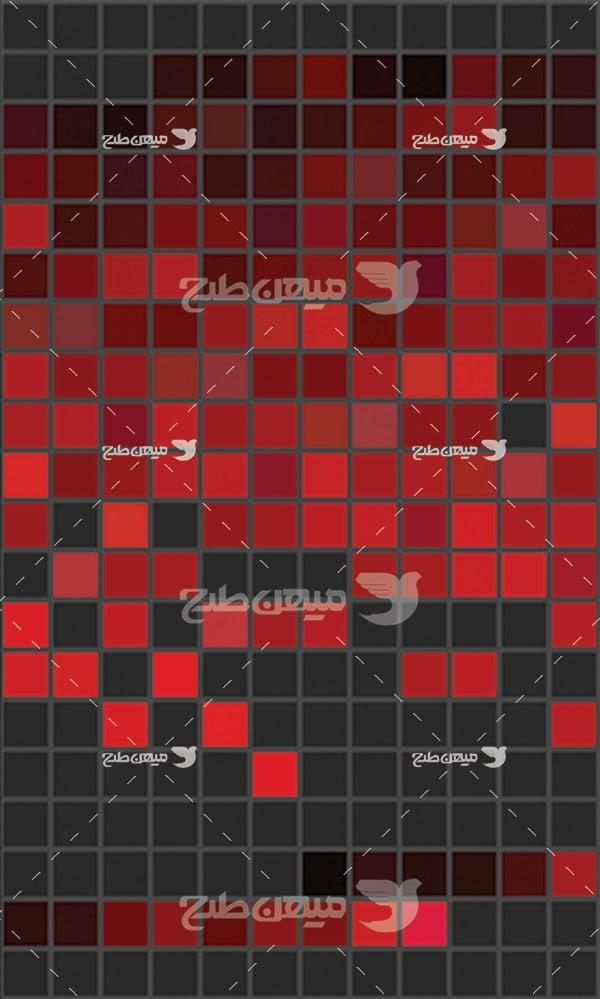 مجموعه ابزارهای فتوشاپ کد رنگ طیف قرمز و مشکی