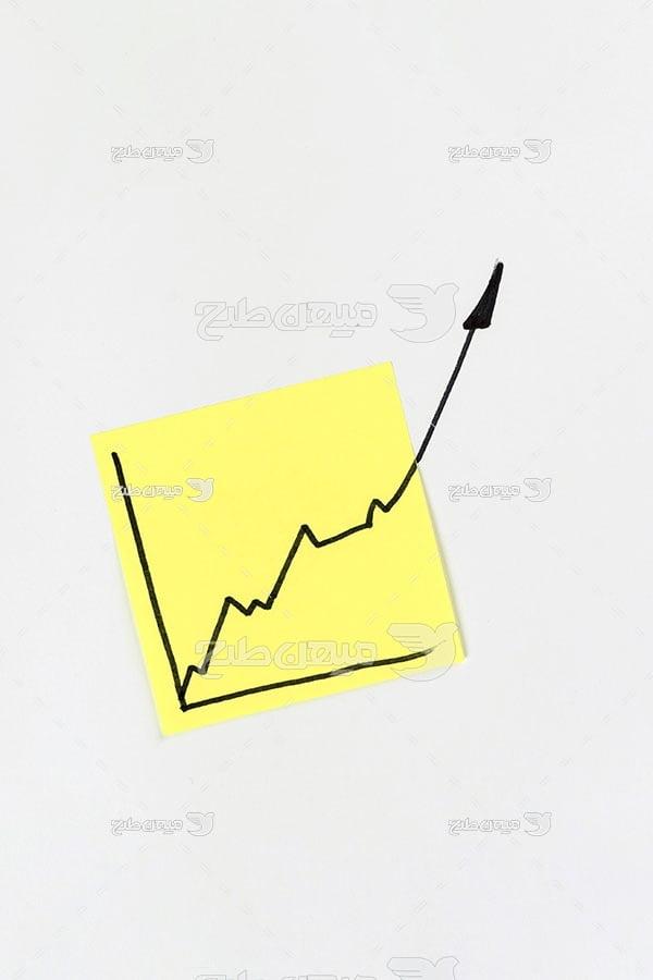 عکس نمودار رشد بورس