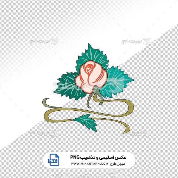 عکس برش خورده اسلیمی و تذهیب برگ و گل