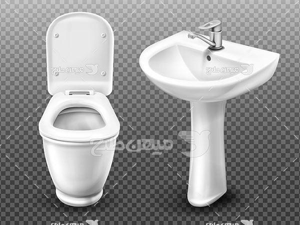 وکتور روشویی و توالت فرنگی