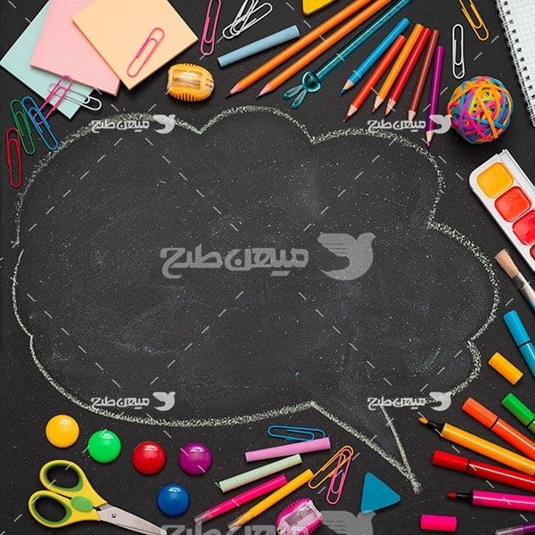 عکس لوازم التحریر مدرسه