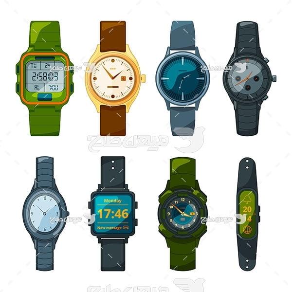 وکتور انواع ساعت مچی