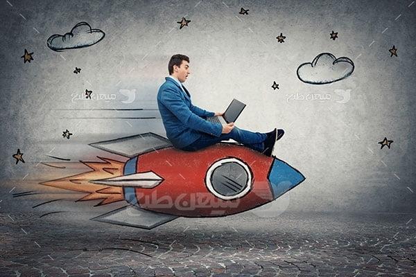 عکس تبلیغاتی کارآفرینی و منابع برتر