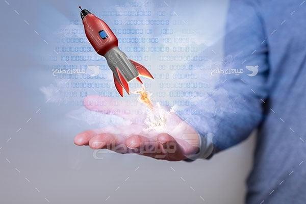 عکس تبلیغاتی کارآفرینی و ایده تازه