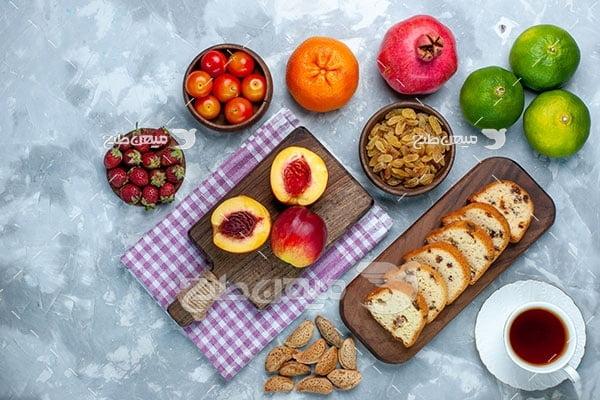 عکس میوه و شیرینی