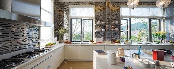 عکس نمای از دکوراسیون آشپزخانه
