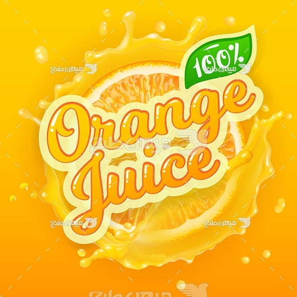 وکتور آب پرتقال