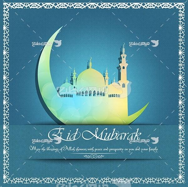 وکتور عید رمضان مبارک