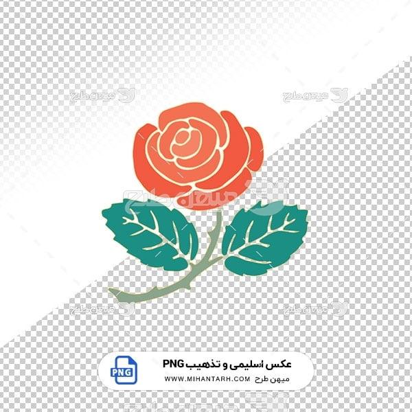 عکس برش خورده اسلیمی و تذهیب گل قرمز
