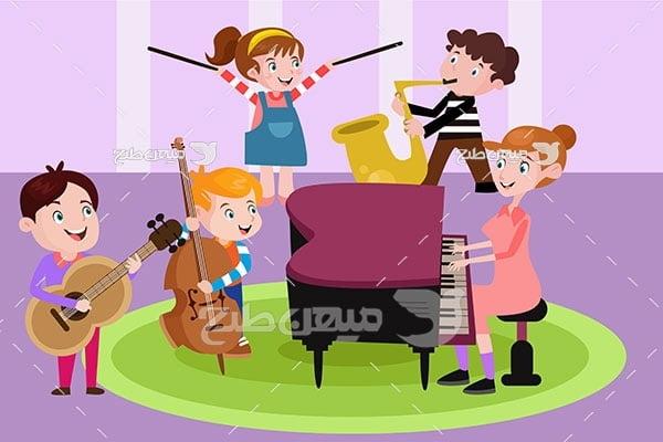 وکتور کلاس موسیقی کودکان
