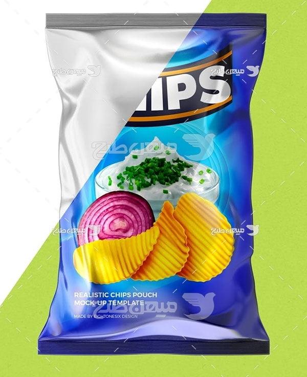 موکاپ تبلیغات مواد غذایی