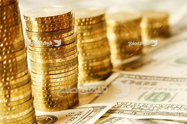 عکس سکه و بانک داری