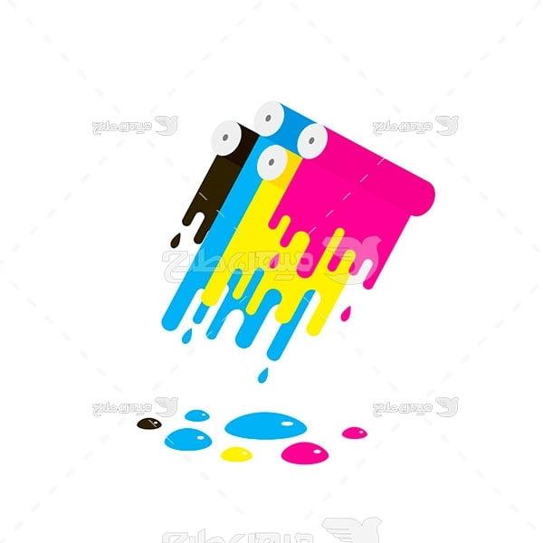 وکتور رنگ و چاپ