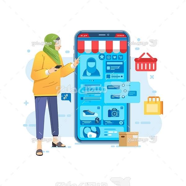 وکتور فروشگاه اینترنتی