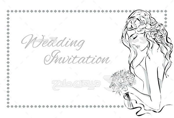 وکتور طرح نقاشی عروس