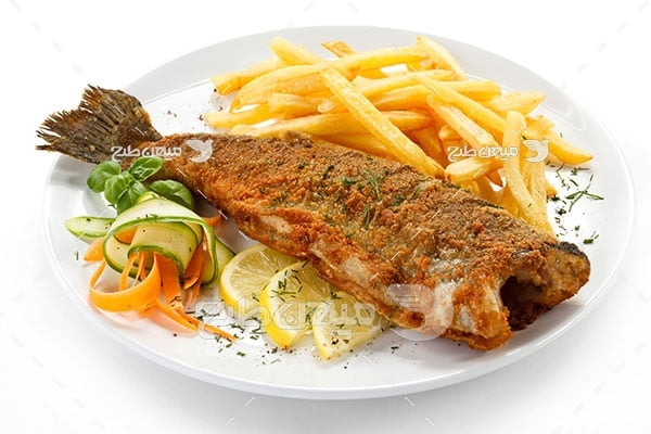 عکس تبلیغاتی غذا ماهی سوخاری