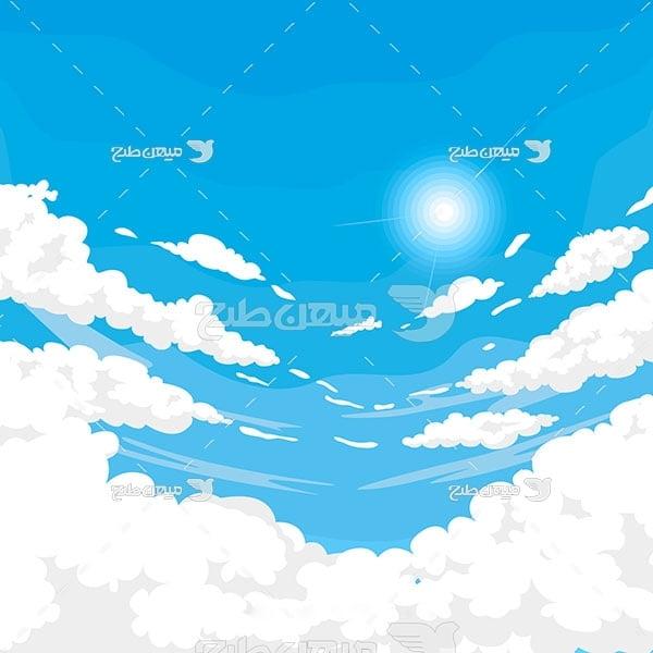 وکتور کاراکتر کاراکترآسمان ابری