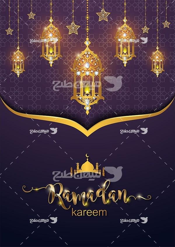 وکتور ماه نزول قرآن