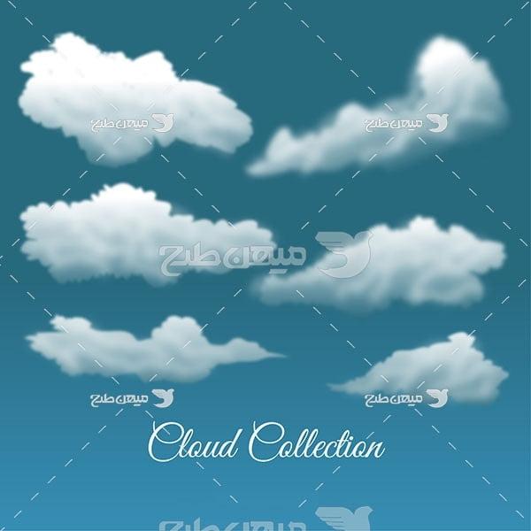 وکتور کاراکتر ابر در آسمان