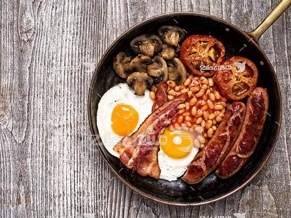 عکس صبحانه غربی