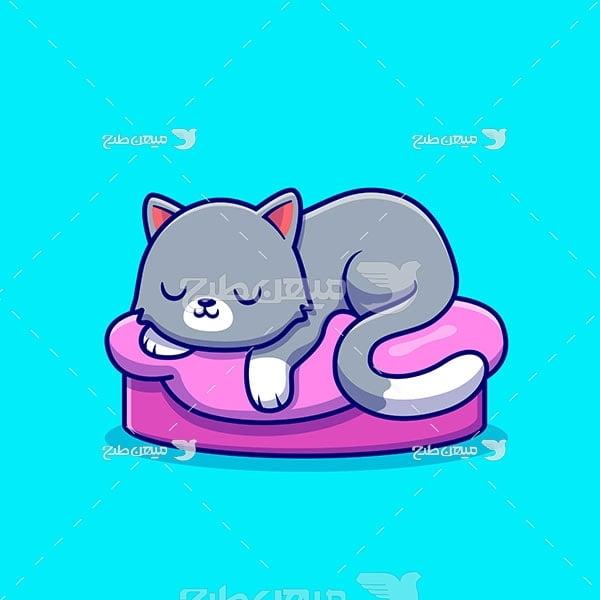 وکتور گربه خانگی