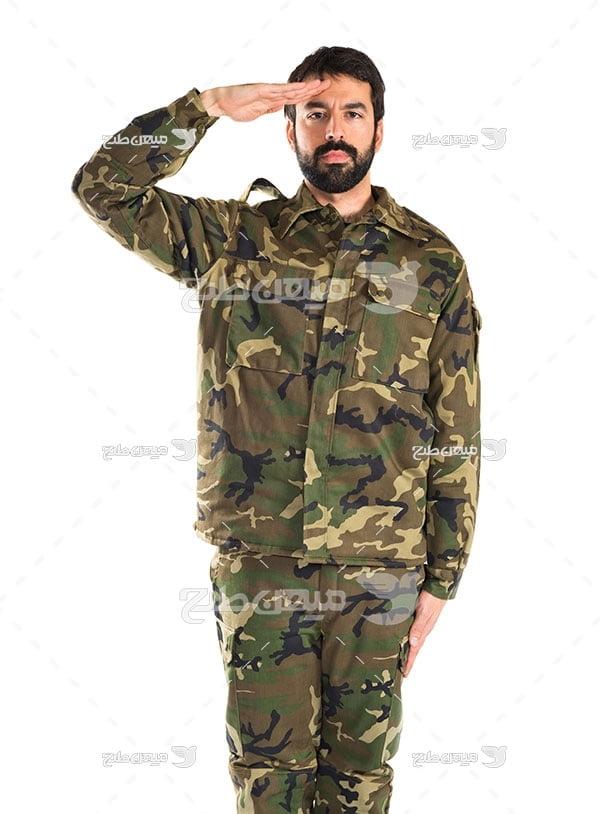 عکس احترام نظامی