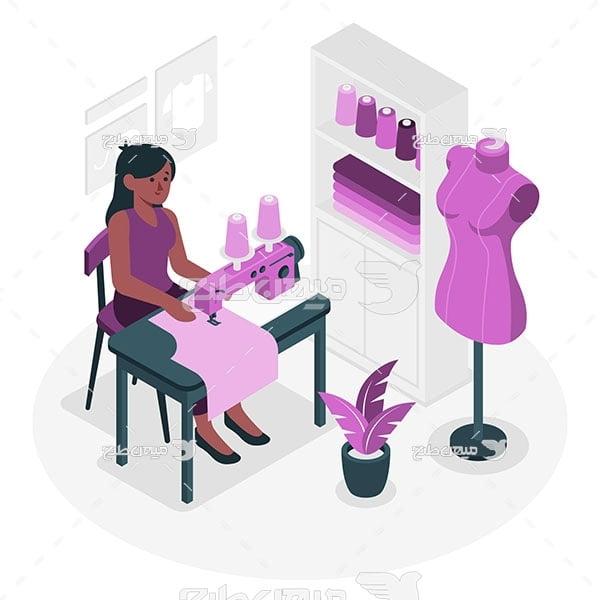 وکتور تولیدی لباس