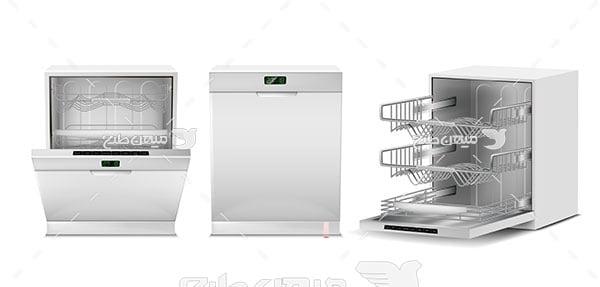وکتور ماشین ظرفشویی