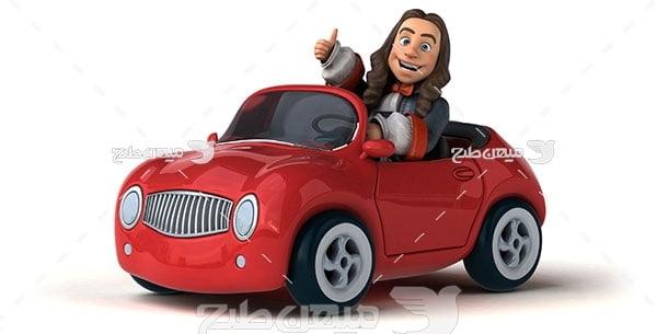 عکس ماشین قرمز عروسکی