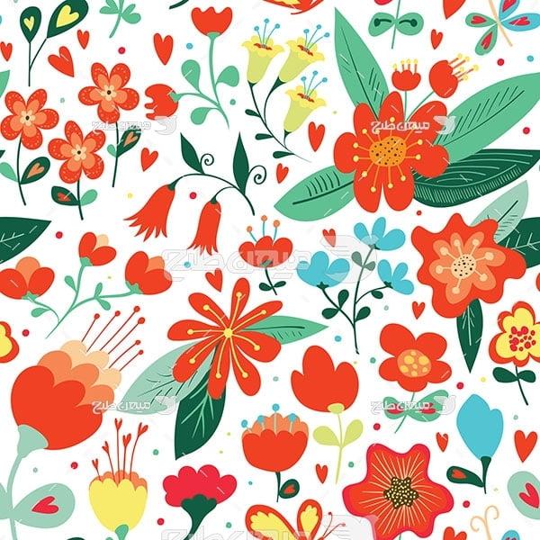 وکتور کاراکتربک گراند گل رنگی