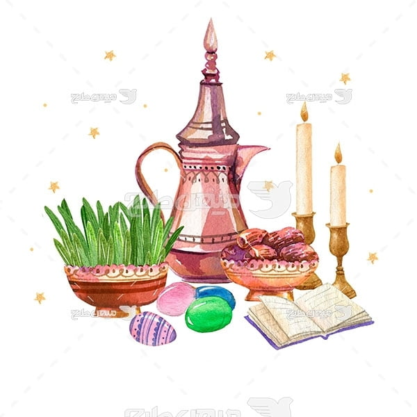 وکتور سفره عید نوروز