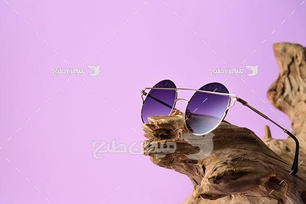 عکس عینک آفتابی شیشه رنگی