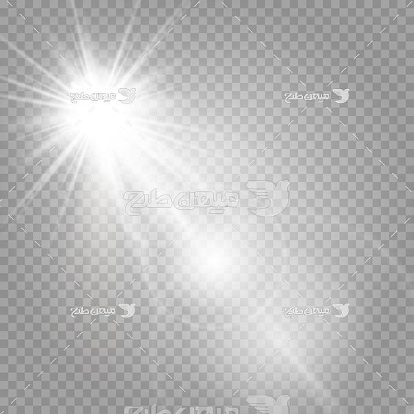 وکتور کاراکتر نور خورشید