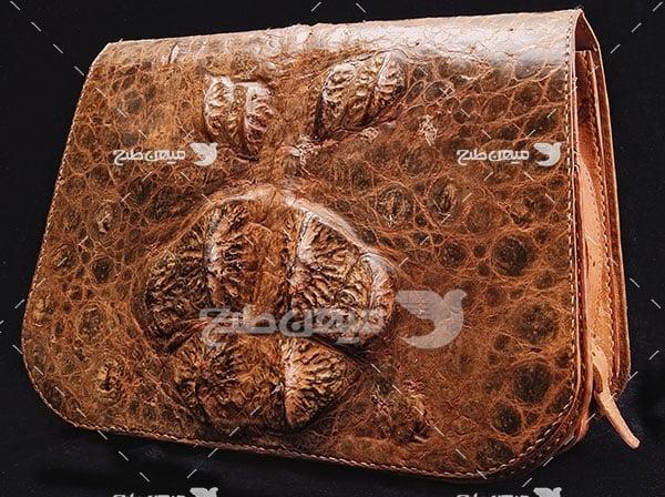 عکس تبلیغاتی مد کیف چرم طبیعی