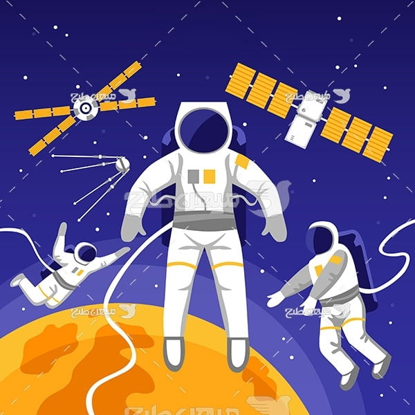 وکتور کاراکتر فضانوردان